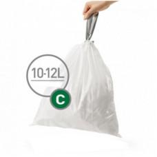Мішки для сміття міцні із зав'язками 10-12л SIMPLEHUMAN CW0162
