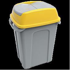 Бак для сміття Planet Hippo 70 л сіро-жовтий