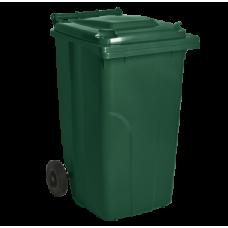 Бак для сміття на колесах з ручкою 240 літрів 3074