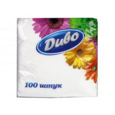 Диво Серветки білі, 33 * 33,100 шт