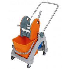 Пластикова візок для прибирання з відром 01. 25. TS