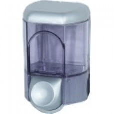 561 satin Дозатор жидкого мыла пластик прозр./сатин 0,35л