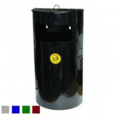 Монте-Карло  Урна-пепельница, навесная, оцинкованная, окрашенная, черная, 22 л
