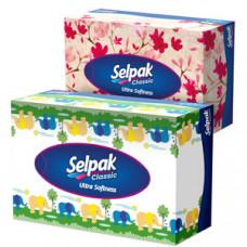 Серветки Selpak в коробці 3х шарові, 100 шт