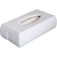 Тримач косметичних серветок пластик білий A68701