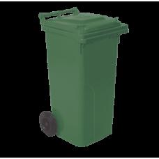 Бак для сміття на колесах з ручкою 120 л зелений 4225