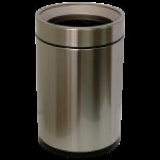 Відро для сміття JAH 12 л кругле срібний металік без кришки і внутрішнього відра 6338