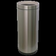 Відро для сміття JAH 25 л кругле срібний металік без кришки і внутрішнього відра 6339