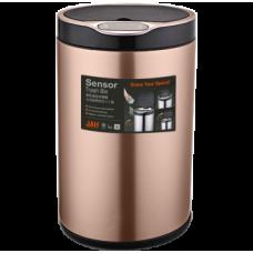 Сенсорне відро для сміття JAH 20 л кругле рожеве золото без внутрішнього відра 6373
