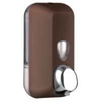 Дозатор рідкого мила пластик коричневий 550мл 714MA