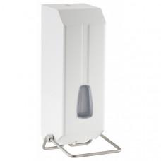 Дозатор рідкого мила пластик білий, ліктьовий 1,2л 736W 736W