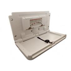 Сповивальний столик настінний відкидний горизонтальний бежевий ZG-8001A