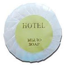 Мило круглое гостиничное  в плиссерованой упаковке 25гр