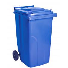 Бак для сміття на колесах з ручкою 240 літрів синій 3073