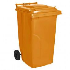 Бак для сміття на колесах з ручкою 120 л помаранчевий 5814