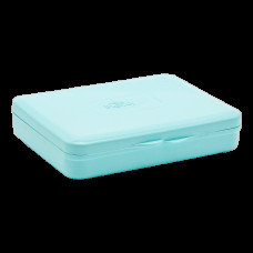 Коробка для гігієнічних прокладок бірюзова 5602