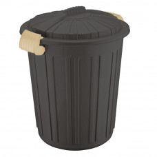 Бак для сміття Irak Plastik Luxury № 5 Herkul 73 л шоколад 5828
