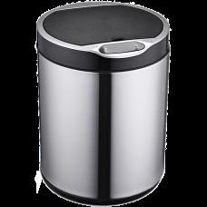 Сенсорне відро для сміття JAH 20 л кругле срібний металік без внутрішнього відра 6371