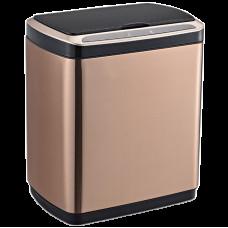 Сенсорне відро для сміття JAH 20 л прямокутне рожеве золото з внутрішнім відром 6403