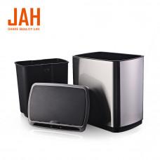 Сенсорне відро для сміття JAH 20 л прямокутне темно-срібний металік з внутрішнім відром 6404