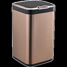 Сенсорне відро для сміття JAH 13 л квадратне рожеве золото з внутрішнім відром 6365