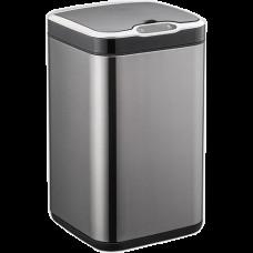 Сенсорне відро для сміття JAH 13 л квадратне темно-срібний металік з внутрішнім відром 6367