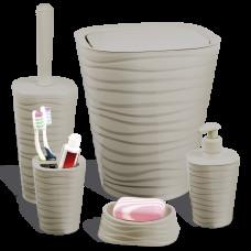 Набір для ванної кімнати Planet Welle 5 предметів латте 6897