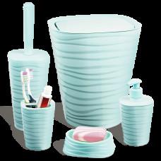 Набір для ванної кімнати Planet Welle 5 предметів сіро-блакитний 6900