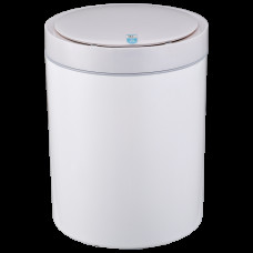 Сенсорне відро для сміття JAH 12 л кругле біле 7024