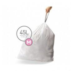 CW0261 Мешки для мусора плотные с завязками 45л