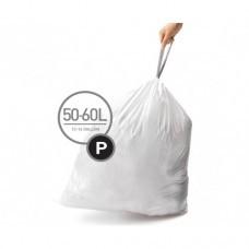 CW0263 Мешки для мусора плотные с завязками 50-60л