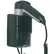 Фен для готельного номера чорний пластик 540 / 1240Вт SC0030CS