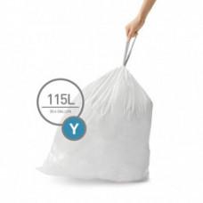 CW0404 Мешки для мусора плотные с завязками 115л